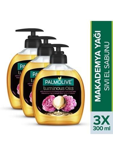 Palmolive Palmolive Luminous Oils Makademya Yağı ve şakayık Özleri 3'lü Sıvı El Sabunu 300 ml Renksiz